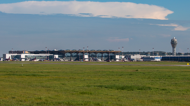 A view from St. Petersburg Pulkovo Airport
