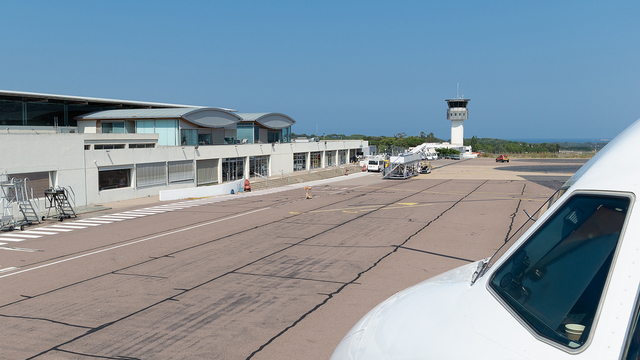 A view from Calvi Sainte-Catherine Airport