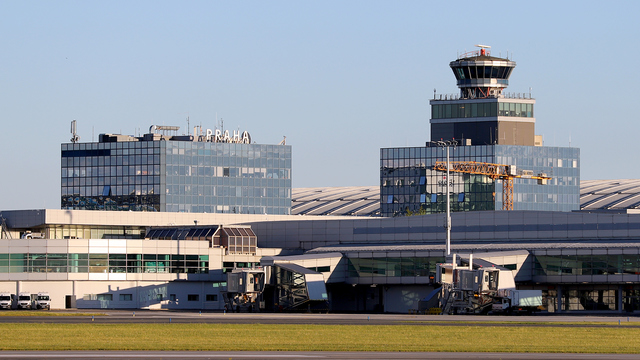 A view from Prague Vaclav Havel Airport