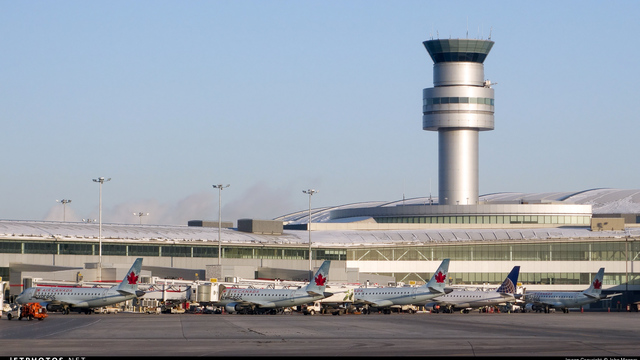 A view from Toronto Pearson International Airport
