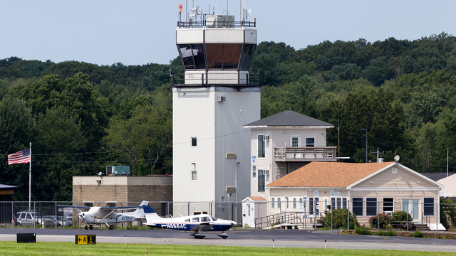 A view from Beverly Regional Airport