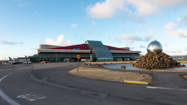A view from Keflavik International Airport