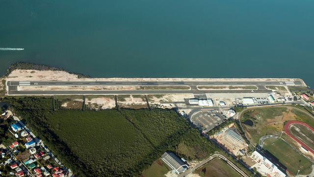 A view from Belize City Sir Barry Bowen Municipal Airport