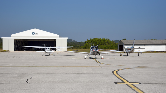 A view from Losinj Airport