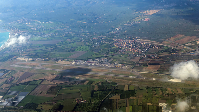 A view from Lamezia Terme Airport