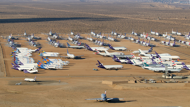 A view from Victorville Southern California Logistics Airport