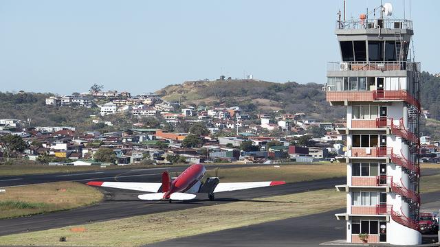 A view from San Jose Tobias Bolanos International Airport