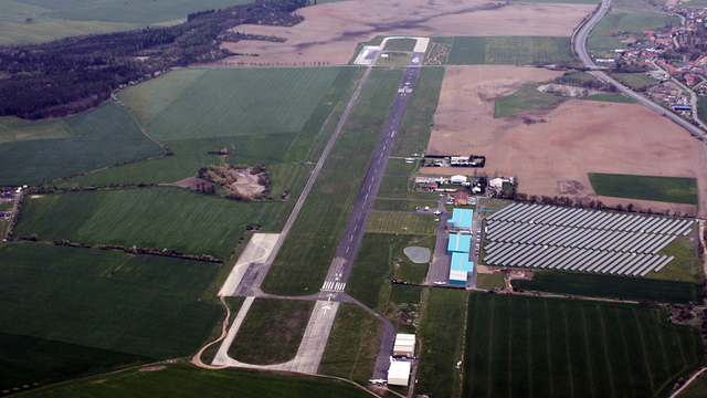 A view from Pribram Airport