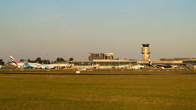 A view from Christchurch International Airport
