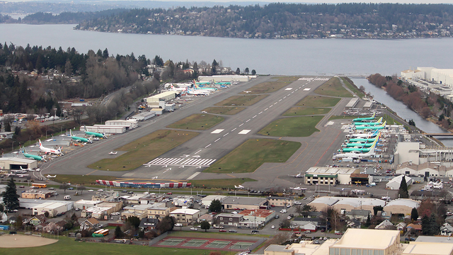 A view from Renton Municipal Airport