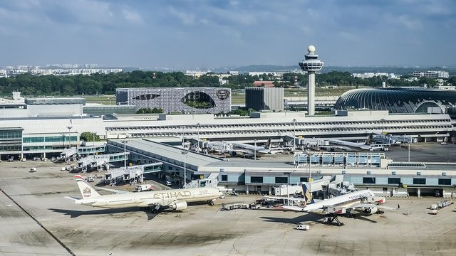 A view from Singapore Changi Airport