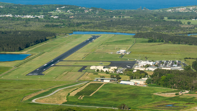 A view from Ballina Byron Gateway Airport