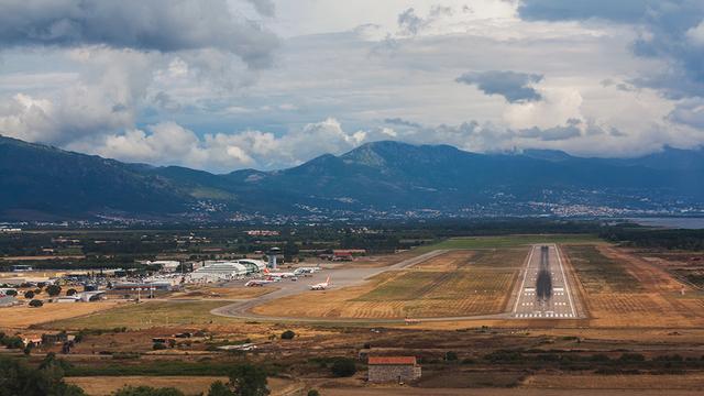 A view from Bastia Poretta Airport