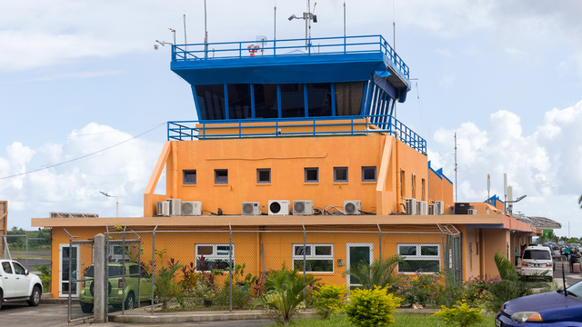 A view from Dominica Douglas Charles Airport