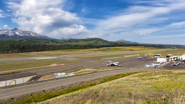 A view from Telluride Regional Airport