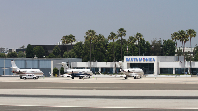 A view from Santa Monica Airport