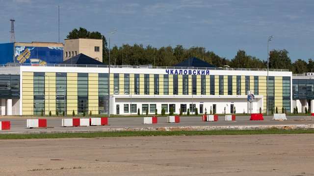 A view from Moscow Chkalovskiy Airport