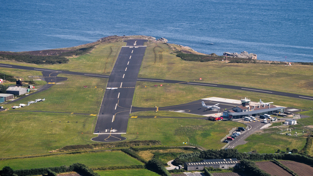 A view from Isles of Scilly St Mary's Airport