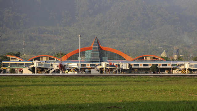 A view from Jayapura Sentani Airport