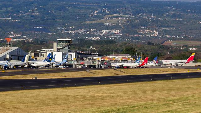 A view from San Jose Juan Santamaria International Airport