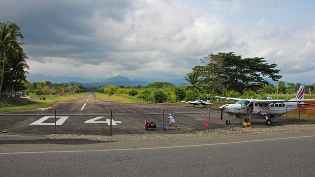 A view from Quepos La Managua Airport