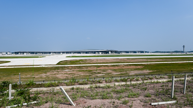 A view from Chengdu Tianfu International Airport