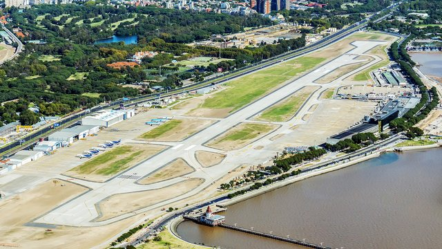 A view from Buenos Aires Jorge Newbery Airport