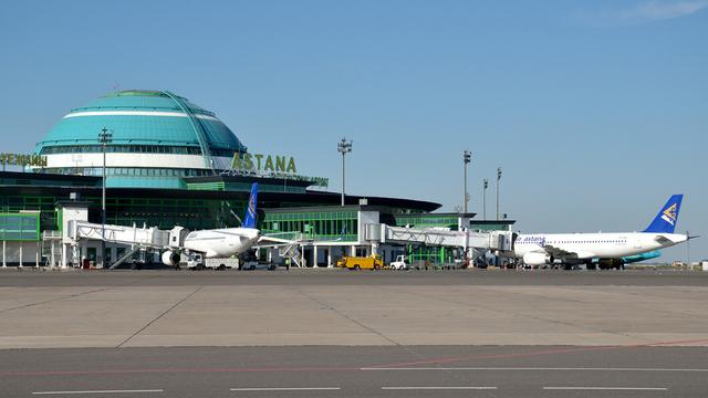 A view from Nursultan Nazarbayev International Airport