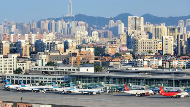 A view from Dalian Zhoushuizi International Airport