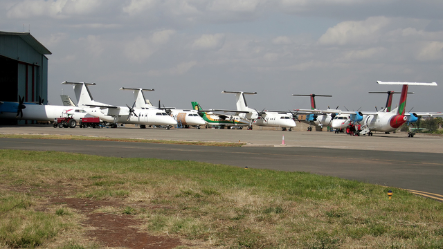 A view from Nairobi Wilson Airport