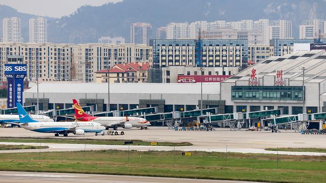 A view from Quanzhou Jinjiang Airport