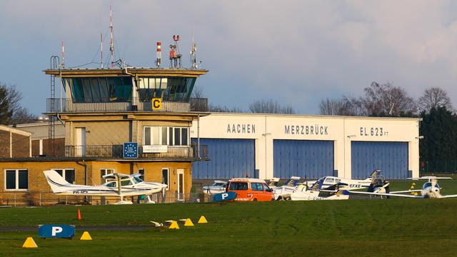 A view from Aachen Merzbruck Airport
