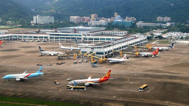 A view from Zhuhai Jinwan Airport