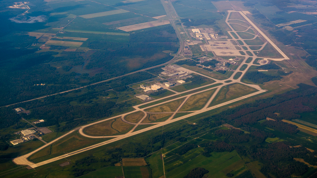 A view from Montreal Mirabel International Airport