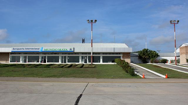 A view from Flores Mundo Maya International Airport