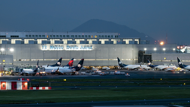 A view from Mexico City International Airport