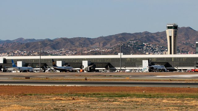 A view from Malaga Costa Del Sol Airport