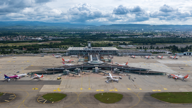 A view from Basel Mulhouse-Freiburg EuroAirport