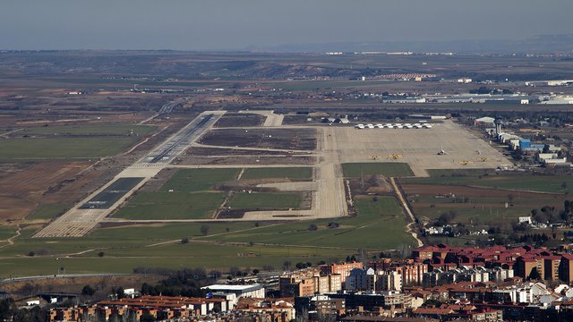 A view from Madrid Torrejon Airport