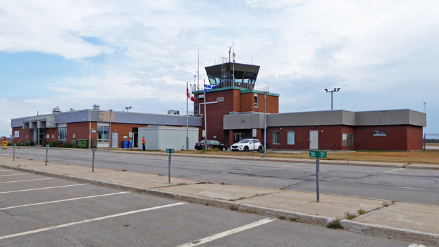 A view from Baie Comeau Airport