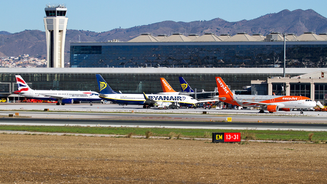 A view from Malaga Costa Del Sol Airport