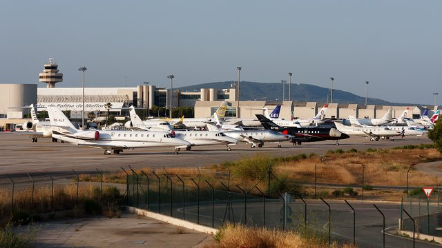 A view from Palma de Mallorca Airport