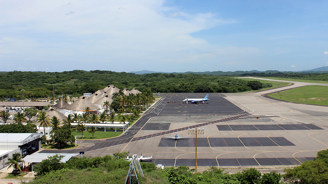 A view from Huatulco International Airport