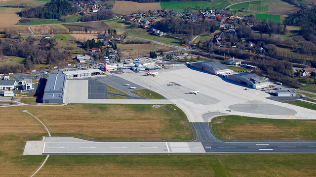 A view from Klagenfurt Airport