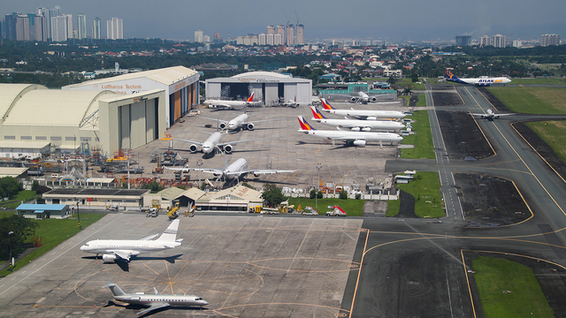 A view from Manila Ninoy Aquino International Airport