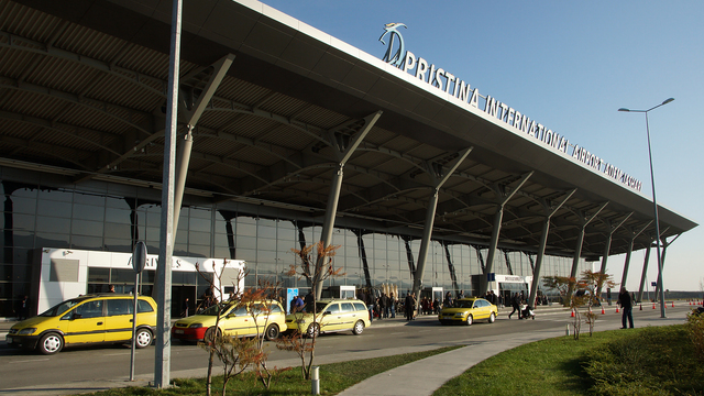 A view from Pristina Adem Jashari International Airport