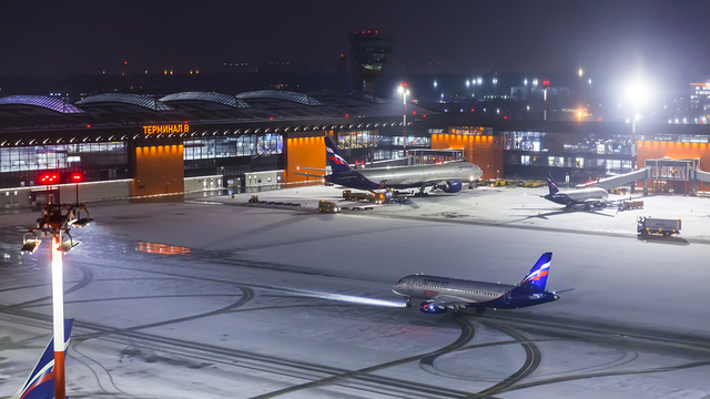 A view from Moscow Sheremetyevo International Airport