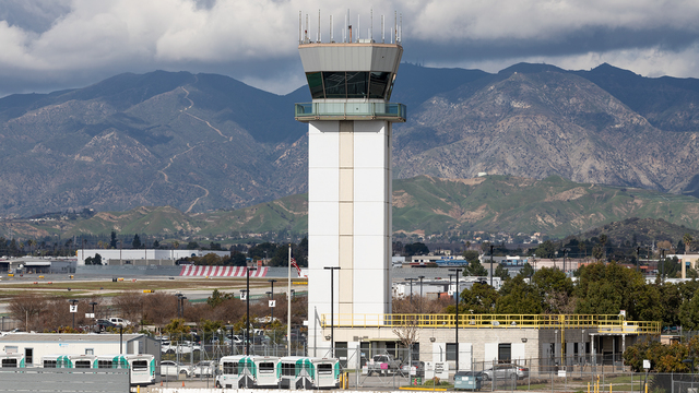 A view from Burbank Bob Hope Airport