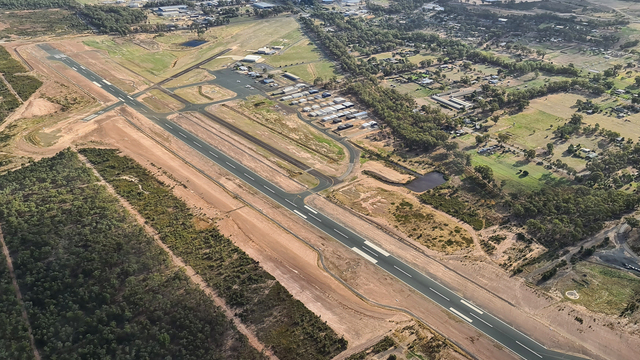 A view from Bendigo Airport