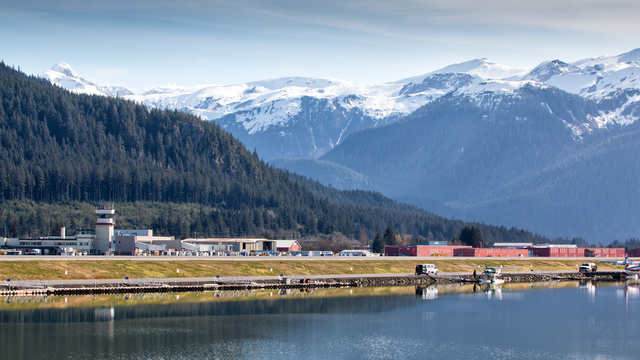 A view from Juneau International Airport